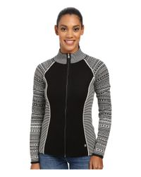 Spyder | Black Dessa Full Zip Sweater | Lyst