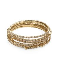 ABS By Allen Schwartz | Metallic Rhinestone Bangle Set | Lyst