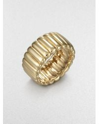 John Hardy | Metallic Ribbed Ring | Lyst