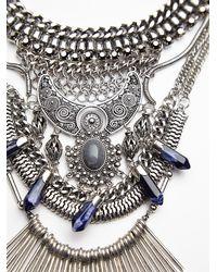 Free People - Metallic Womens Kingdom Statement Collar - Lyst