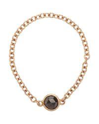 Finn - Pink Black Diamond & Rose Gold Chain Ring - Lyst