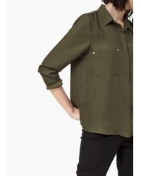 Mango | Green Patch Pocket Shirt | Lyst
