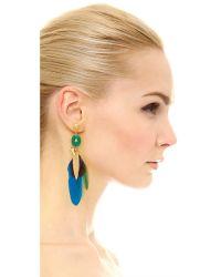 Gas Bijoux - Metallic Serti Plume Earrings - Lyst
