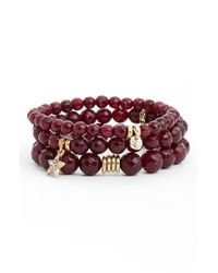 Sequin - Purple 'color Karma' Bead Stretch Bracelet - Berry - Lyst