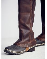 Free People | Brown Sorel Womens Slimpack Riding Tall Boot | Lyst