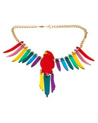 Tatty Devine | Metallic Parakeet Chain Necklace | Lyst