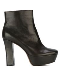 L'Autre Chose | Black Chunky Heel Boots | Lyst