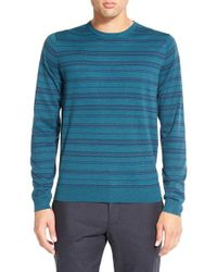 Calibrate | Blue Stripe Crewneck Pullover for Men | Lyst