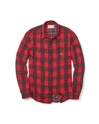 Denim & Supply Ralph Lauren - Red Ward Checked Cotton Shirt for Men - Lyst