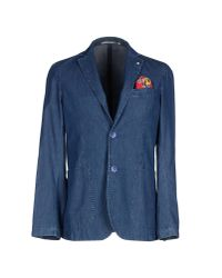 AT.P.CO | Blue Denim Outerwear for Men | Lyst