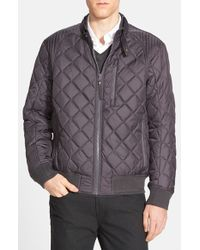 Andrew Marc Gray 'delancey' Quilted Bomber Jacket for men