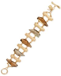 Robert Lee Morris | Metallic Gold-tone Stone Toggle Bracelet | Lyst