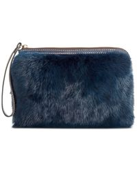 Patricia Nash | Blue Eclipse Fur Cassini Wristlet | Lyst