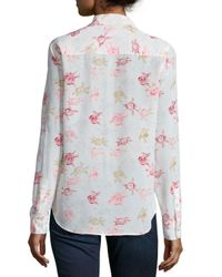Equipment - Multicolor Brett Floral-print Button-front Top - Lyst