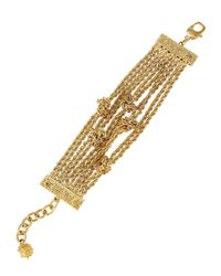 St. John - Metallic Boucle Knot Chain Bracelet - Lyst