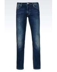 Armani Jeans | Blue Faded Slim Jeans for Men | Lyst