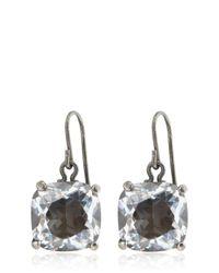 Bottega Veneta | Natural Cubic Zirconia Silver Earrings | Lyst