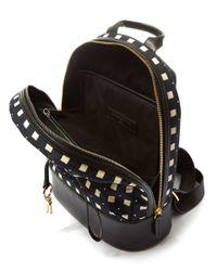 Want Les Essentiels De La Vie - Mini Black And White Piper Square Backpack - Lyst