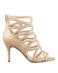 Nine West | Natural Yolo Open Toe Caged Pumps | Lyst
