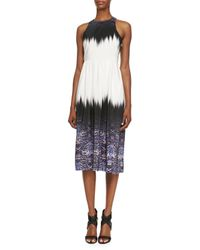 Tibi - Multicolor Ibis-bordered Cross-back Dress Indmu 0 - Lyst