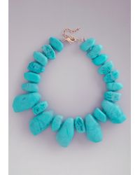 Bebe | Blue Resin Stone Necklace | Lyst