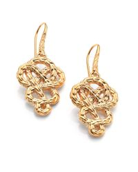 John Hardy | Metallic Classic Chain 18k Yellow Gold Braided Knot Drop Earrings | Lyst