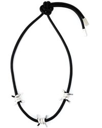 DSquared² | Black Barbed Wire Necklace | Lyst
