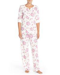 Carole Hochman | White Floral Cotton Pajamas | Lyst