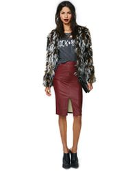 Nasty Gal - Green Camo Love Faux Fur Coat - Lyst