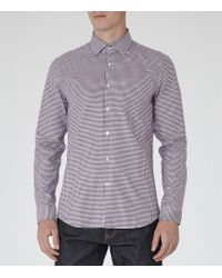 Reiss - Purple Glover Slim-fit Checked Shirt for Men - Lyst
