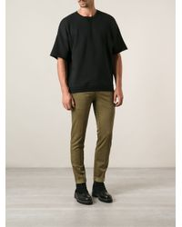 Dondup - Green Waxed Effect Waistband Skinny Trousers for Men - Lyst