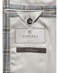 Canali - Gray Cashmere-silk Check Blazer for Men - Lyst