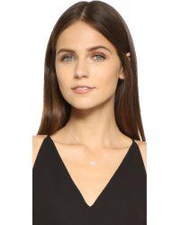 KC Designs - White Oval Pave Diamond Necklace - Lyst
