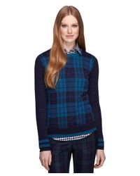 Brooks Brothers - Blue Merino Wool Crewneck Sweater - Lyst