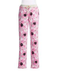 Munki Munki - Pink Sheep Patterned Sleep Pants - Lyst