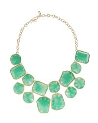 Kenneth Jay Lane | Green Goldplated Resin Necklace | Lyst