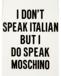 Moschino - Black Printed T-Shirt Iphone® 5 Case - Lyst