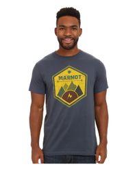 Marmot | Blue Badge Tee Ss for Men | Lyst