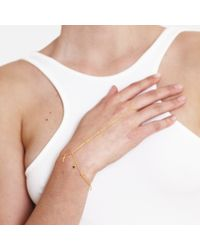 Tada & Toy | Metallic Falling Star Hand Chain Gold | Lyst