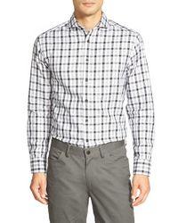 Vince Camuto - Blue Slim Fit Windowpane Sport Shirt for Men - Lyst