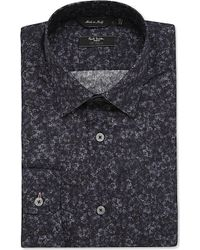 Paul Smith | Blue Byard Floral-print Cotton Shirt, Men's, Size: 15.5, Navy for Men | Lyst