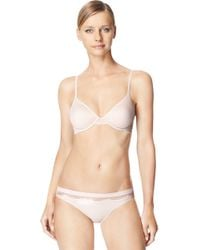 Calvin Klein | White Perfectly Fit Lace Unlined Underwire Bra | Lyst