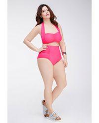 Forever 21 | Pink Plus Size Bandeau Halter Bikini Top | Lyst