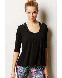 Anthropologie | Black Lattice-Back Swing Tee | Lyst