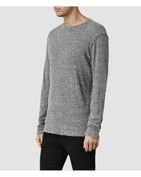 AllSaints - Gray Stercus Long Sleeve Crew T-shirt Usa Usa for Men - Lyst