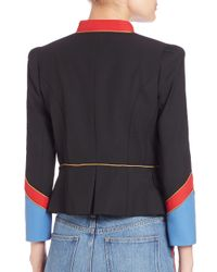 Marc By Marc Jacobs - Black Gabardine Military Jacket - Lyst