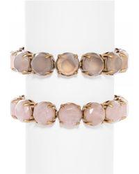 BaubleBar | Pink Cabochon Link Bracelet Set | Lyst