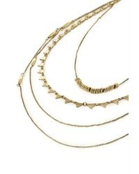 Forever 21 - Metallic Layered Triangle Chain Necklace - Lyst