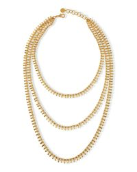 Nest | Metallic Gold-plated Chain Triple Strand Necklace | Lyst