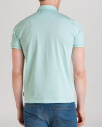 Ted Baker - Green Trybe Linen Trim Classic Fit Polo for Men - Lyst